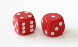 Two Dice Showing 6 and 3
