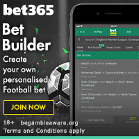 Bet365 Bet Builder - Create Your Own Personalised Football Bet