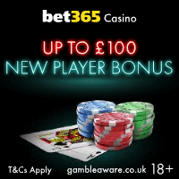 Bet365 Casino £100 Bonus - Play Now