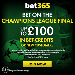 Bet on the champions league final with Bet365