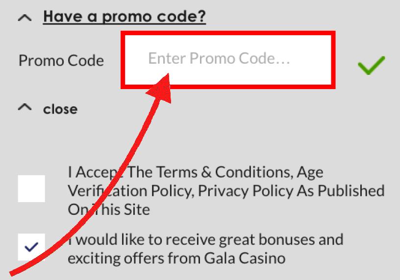 Gala Casino Bonus Code