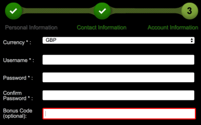 Titan Bet bonus code box location