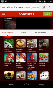 Ladbrokes Windows Phone Screenshot