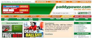 2004 Paddy Power homepage